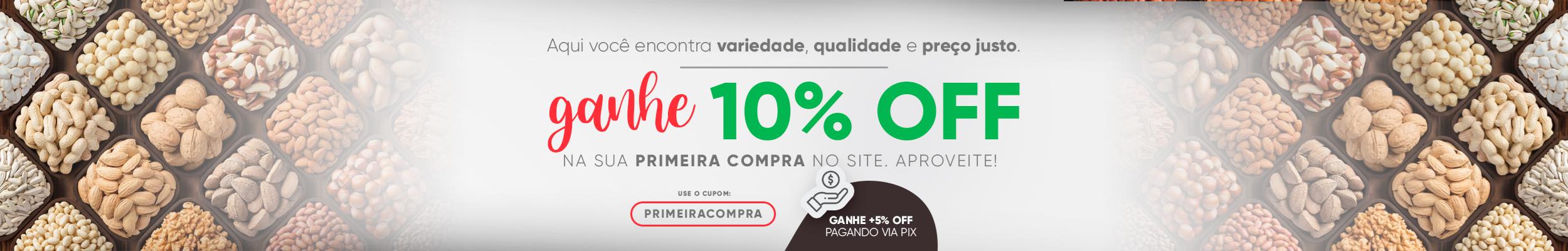 Primeira Compra 10% OFF