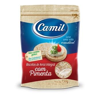 Biscoito de Arroz Integral Camil com Pimenta 150g