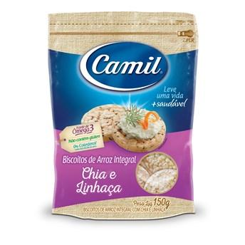 Biscoito de Arroz Integral Camil sabor Chia e Linhaça 150g