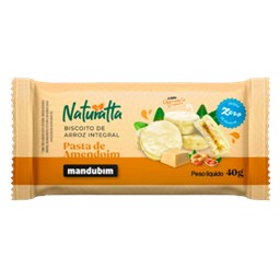 Biscoito de Arroz Integral com Chocolate Branco 40g - Mandubim