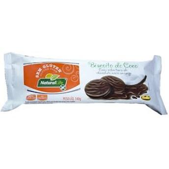 Biscoito de Coco com Chocolate Sem Glúten Natural Life 140g