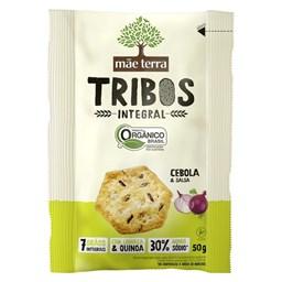 Biscoito Orgânico Integral Tribos Mãe Terra Sabor Cebola e Salsa 50g