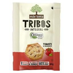 Biscoito Orgânico Integral Tribos Mãe Terra Sabor Tomate e Manjericão 50g