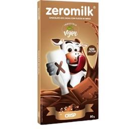 Chocolate 40% Cacau Crisp Sem Lactose Zeromilk 80g