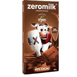 Chocolate 40% Cacau Zeromilk 80g