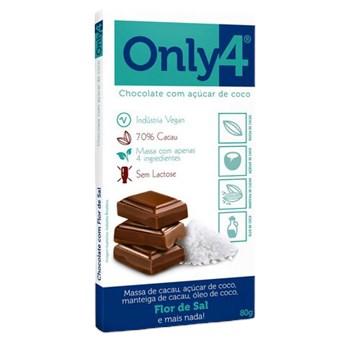 Chocolate 70% Cacau Flor de Sal - Only4 80g