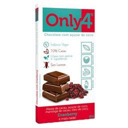 Chocolate Only4 70% Cranberry 80g