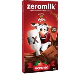 Chocolate Vegano Zeromilk Morango C/ 40% Cacau 80g