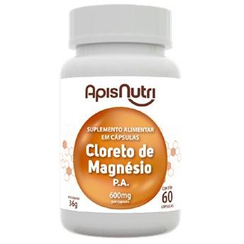Cloreto De Magnésio 600mg - 60 cps Apisnutri