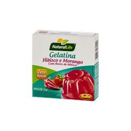 Gelatina Zero AçúcarHibisco/Morango Natural Life 12g