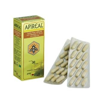 Geleia Real Liofilizada Com Vitaminas E, A e C 30 Capsulas Apireal