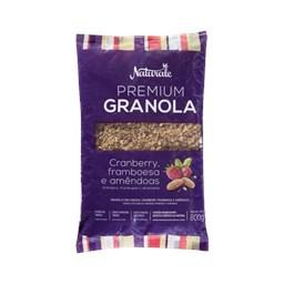 Granola Premium Cranberry Framboesa e Amêndoas Naturale 800g