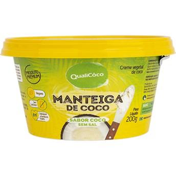 Manteiga de Coco sabor Coco sem Sal Qualicôco 200g