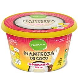 Manteiga de Coco sabor Manteiga sem Sal Qualicôco 200g
