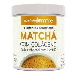 Matchá Soluvel Sabor Abacaxi/Hortelã Apisnutri 200g