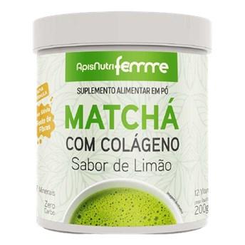 Matchá Solúvel Sabor Limão Apisnutri 200g