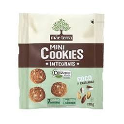 Mini Cookies Orgânico Coco e castanhas Mãe Terra 120g