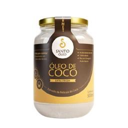 Óleo De Coco Extra Virgem Da Película Santo Óleo 500ml