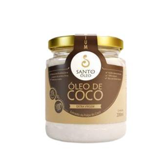 Óleo De Coco Extra Virgem Da Polpa Santo Óleo 200ml