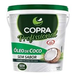 Óleo De Coco Sem Sabor Copra Balde 3,2lt