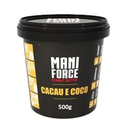 Pasta de Amendoim Cacau e Coco 500g - Mani Force