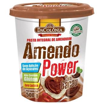 Pasta De Amendoim Integral Com Cacau Amendo Power 500g
