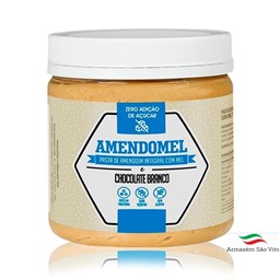 Pasta de Amendoim Integral com Mel e Chocolate Branco 500g - Amendomel