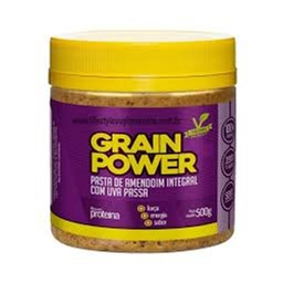 Pasta de Amendoim Integral com Uva Passa Grain Power 500g