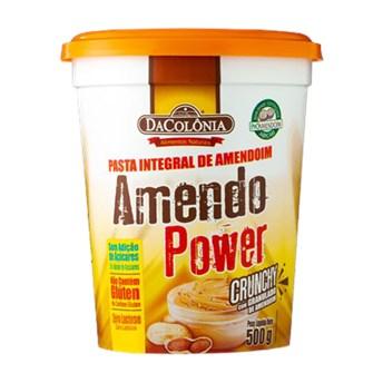 Pasta De Amendoim Integral Crunchy Granulado Amendo Power 500g