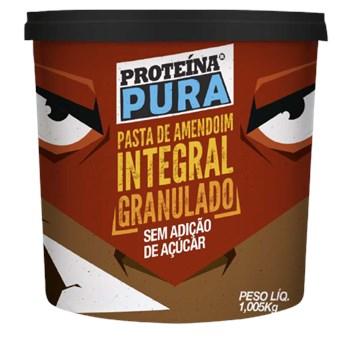 Pasta De Amendoim Integral Granulado Proteína Pura 1,005kg